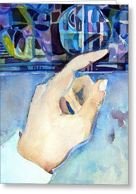 Hand-watercolored Greeting Cards - Pointing the Way Greeting Card by Mindy Newman