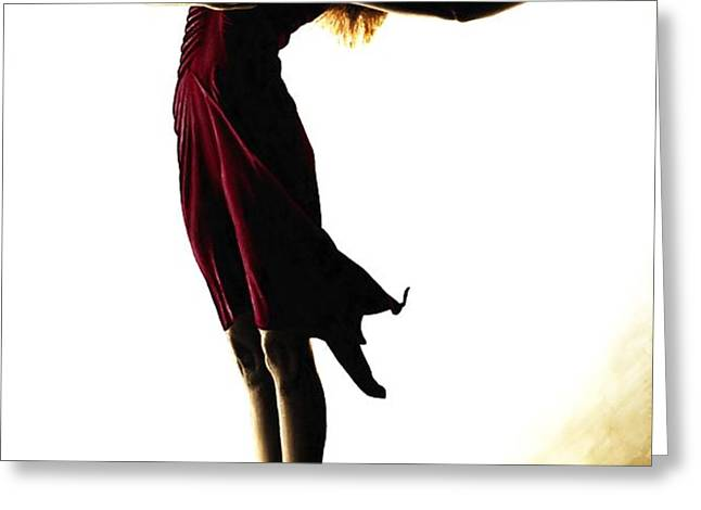 Poise in Silhouette Greeting Card by Richard Young