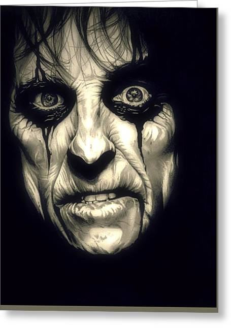 Poison Alice Cooper Greeting Card by Fred Larucci