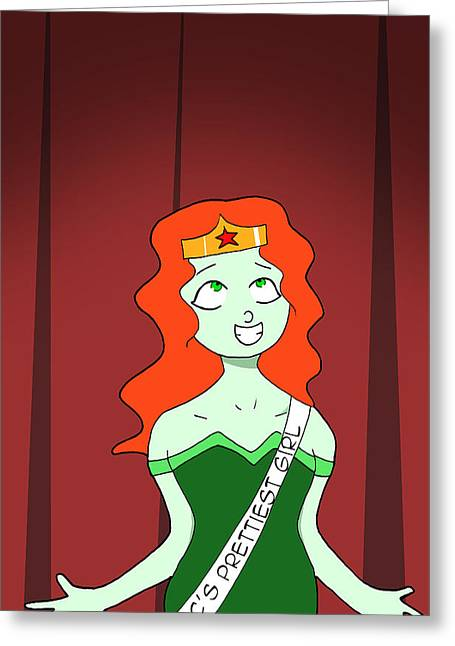 Cartoonist Greeting Cards - Poison Ivy winning a beauty pageant Greeting Card by Chris Thomasma