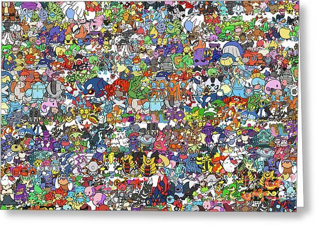 Pokemon  Greeting Card by Mark Ashkenazi