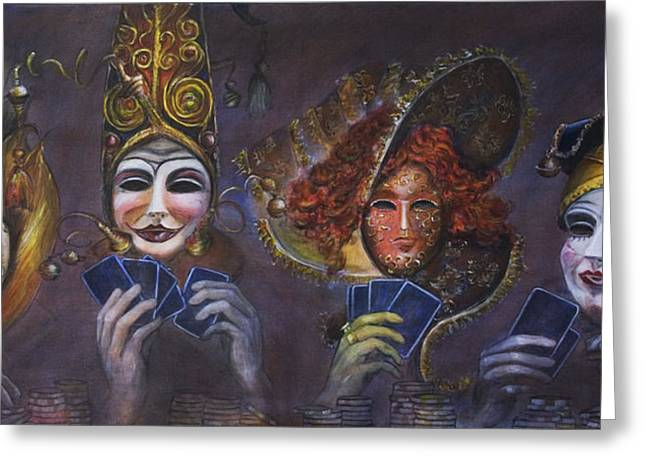 Nik Helbig Greeting Cards - Poker Face Greeting Card by Nik Helbig