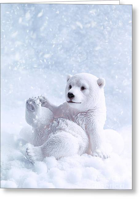 Polar Bear Figure Greeting Card by Amanda And Christopher Elwell