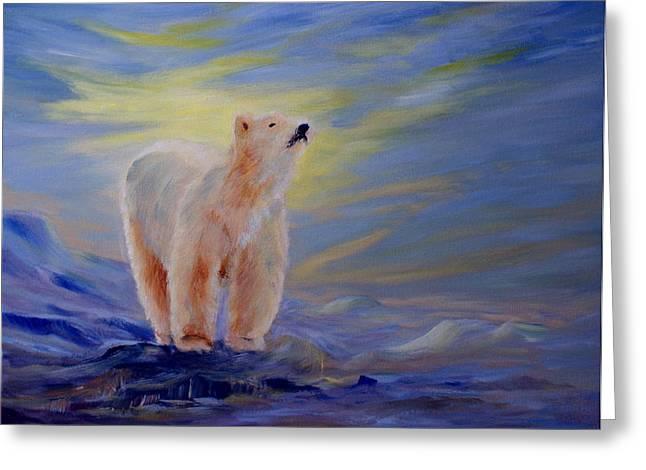Northern Canada Greeting Cards - Polar Bear Greeting Card by Joanne Smoley