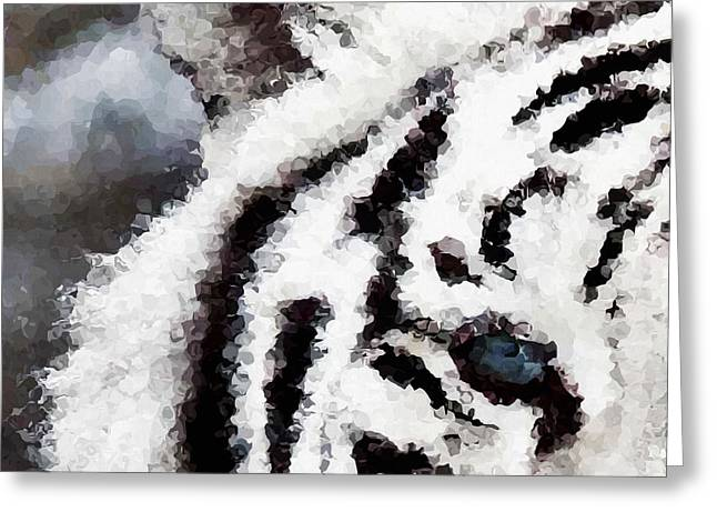 Abstract Digital Paintings Greeting Cards - Polar Greeting Card by Wagner Povoa