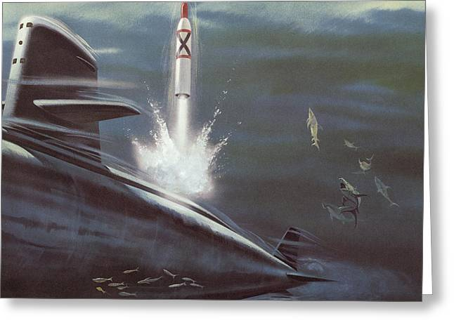 Polaris Surface To Surface Rocket Greeting Card by American School