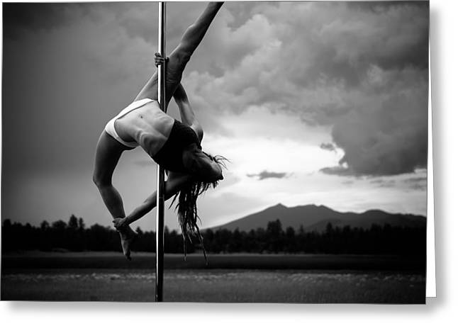 Pole Dance 1 Greeting Card by Scott Sawyer