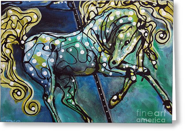 Paso Fino Horse Greeting Cards - Pole Dancer Greeting Card by Jonelle T McCoy