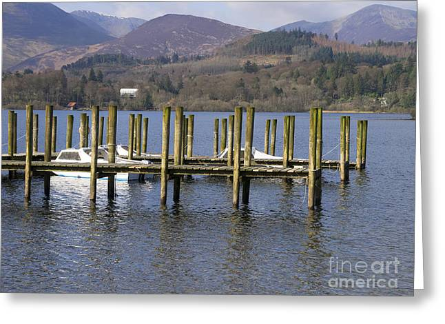Jetty View Park Greeting Cards - Poles apart Greeting Card by Gillian Singleton