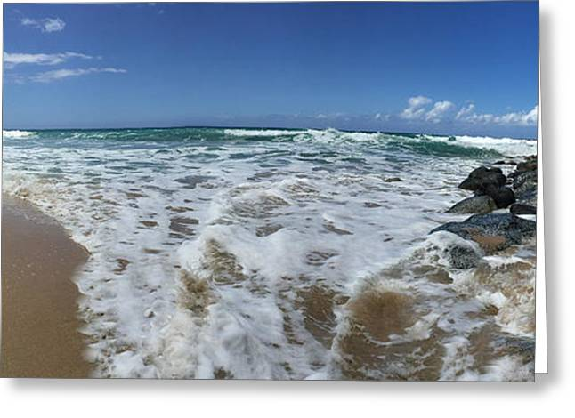 Ocean Panorama Greeting Cards - Poli Hale Kauai Greeting Card by Steven Lapkin