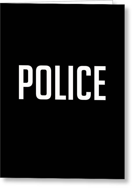 Police Tee Greeting Card by Edward Fielding