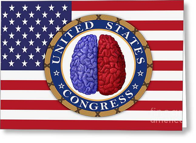 Right Wing Greeting Cards - Political Divide In Us Congress Greeting Card by George Mattei