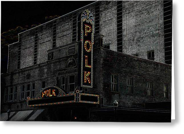 Polk Movie House Greeting Card by David Lee Thompson