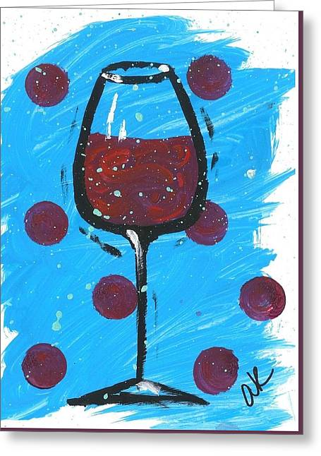 Appleton Art Greeting Cards - Polka Dot Merlot Greeting Card by Alyson Appleton