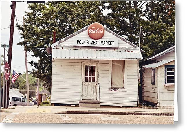 Polk's Meat Market Greeting Card by Scott Pellegrin