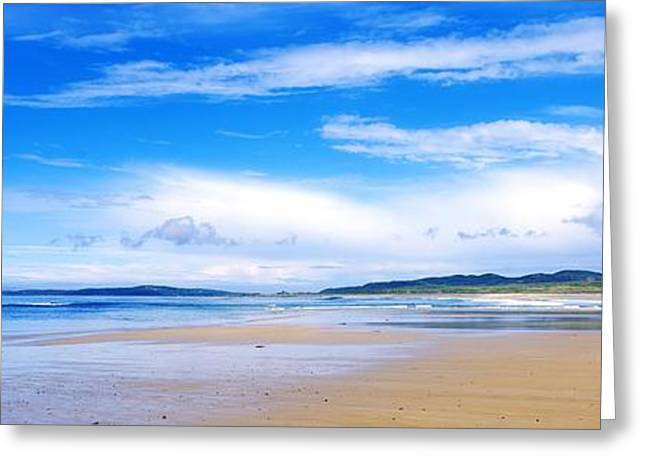 Ocean Front Landscape Greeting Cards - Pollan Strand, Inishowen, County Greeting Card by The Irish Image Collection