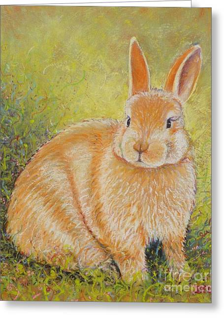 Hare Pastels Greeting Cards - Polly Greeting Card by Christine Belt