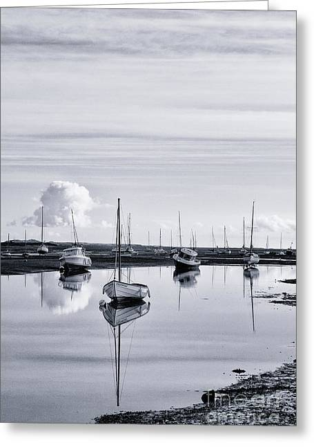 Dinghy Greeting Cards - Pollywiggle Brancaster Staithe Norfolk UK Greeting Card by John Edwards