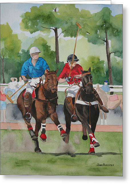 Jean Blackmer Greeting Cards - Polo In The Afternoon 2 Greeting Card by Jean Blackmer