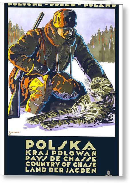 Poland Art Greeting Cards - Polska Poland Greeting Card by David Wagner
