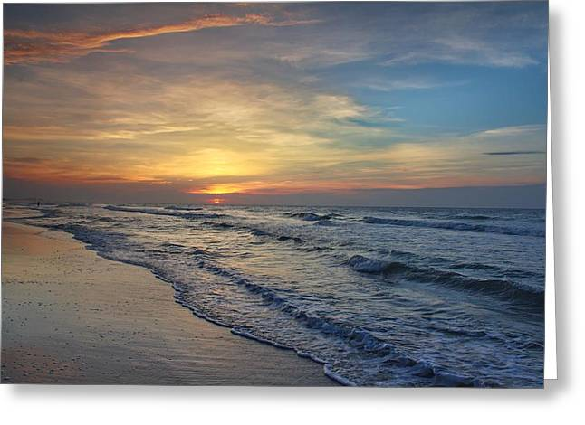 Ocean Art Photos Greeting Cards - Polychromatic Morning Greeting Card by Brian Hamilton