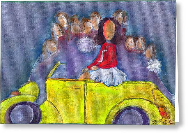 Pom Pom Pam Greeting Card by Ricky Sencion