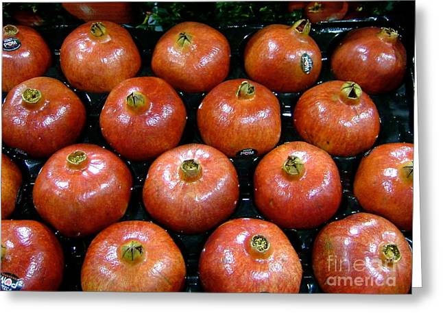 Farm Stand Greeting Cards - Pomegranates Greeting Card by Terri Thompson