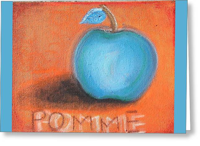 Food And Beverage Pastels Greeting Cards - Pomme Greeting Card by Regina Jeffers
