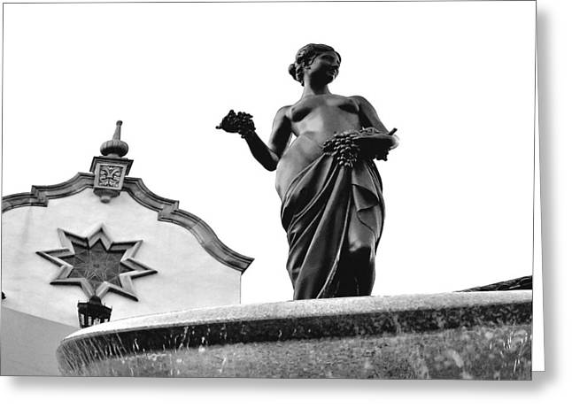 Pomona Fountain Greeting Card by Laurie Douglas
