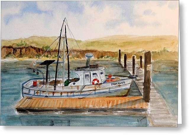 Moss Landing Harbor Greeting Cards - Pompano at Moss Landing Greeting Card by Anna Jacke