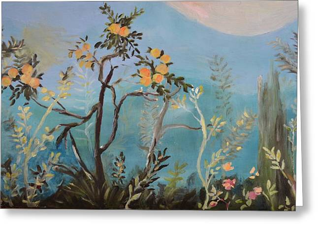 Garden Scene Greeting Cards - Pompeii One Greeting Card by Julie Todd-Cundiff