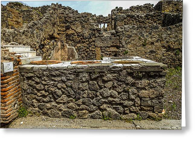 Pompeii Thermopolium Greeting Card by Marilyn Burton