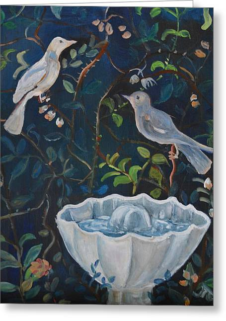 Garden Scene Greeting Cards - Pompeii Two Greeting Card by Julie Todd-Cundiff