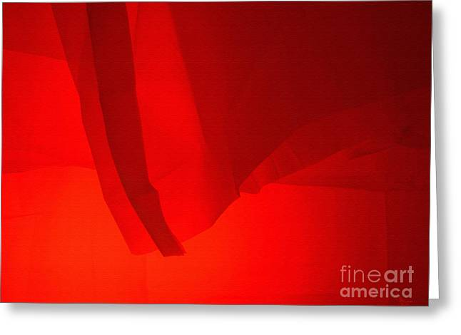Poncho Abstract 7 Greeting Card by Jeff Breiman