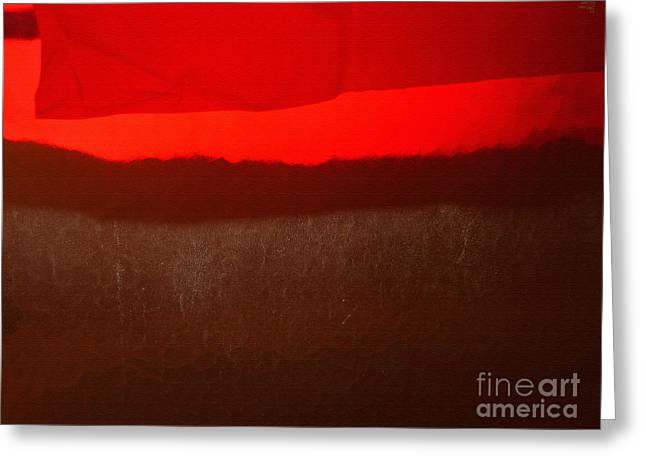 Poncho Abstract8 Greeting Card by Jeff Breiman
