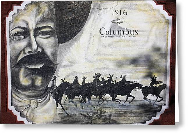 Mexican Revolution Greeting Cards - Poncho Villas raid on Columbus New Mexico Greeting Card by Kurt Van Wagner