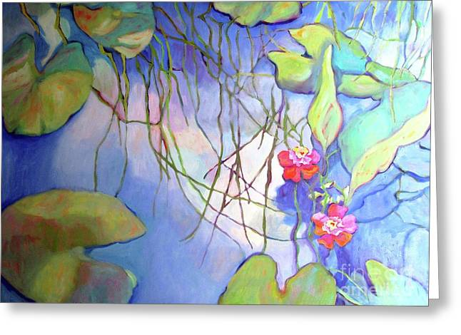Impressionist Greeting Cards - Pond 30 Greeting Card by Sharon Nelson-Bianco