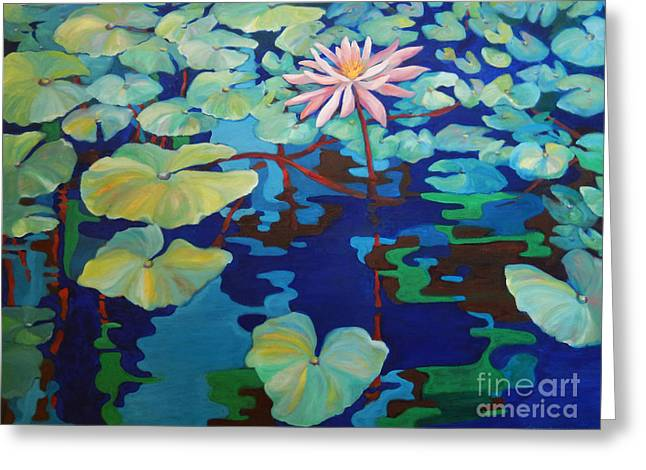 Water Fowl Greeting Cards - Pond 6 Greeting Card by Sharon Nelson-Bianco