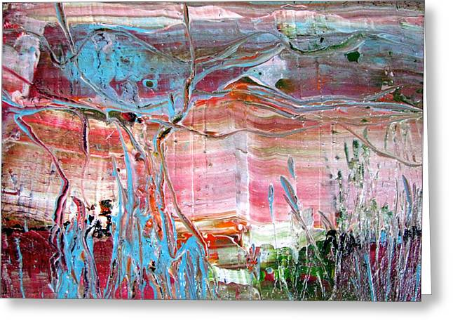 Abstract Expressionist Greeting Cards - Pond at Cattana Wetlands Greeting Card by Christopher Chua