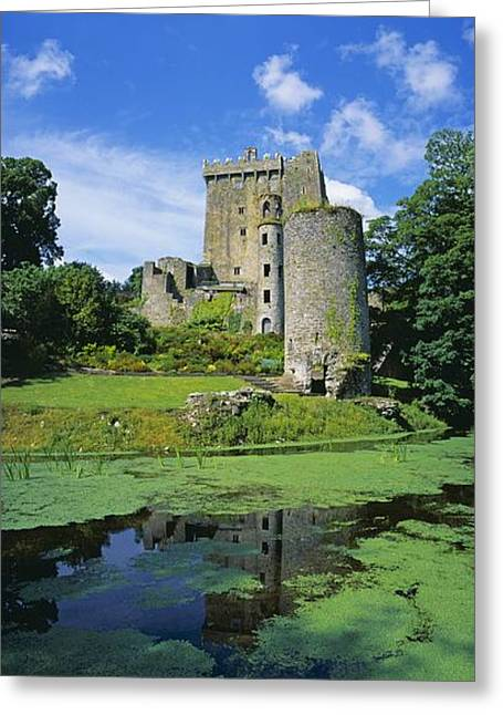 Middle Ages Greeting Cards - Pond In Front Of A Castle, Blarney Greeting Card by The Irish Image Collection