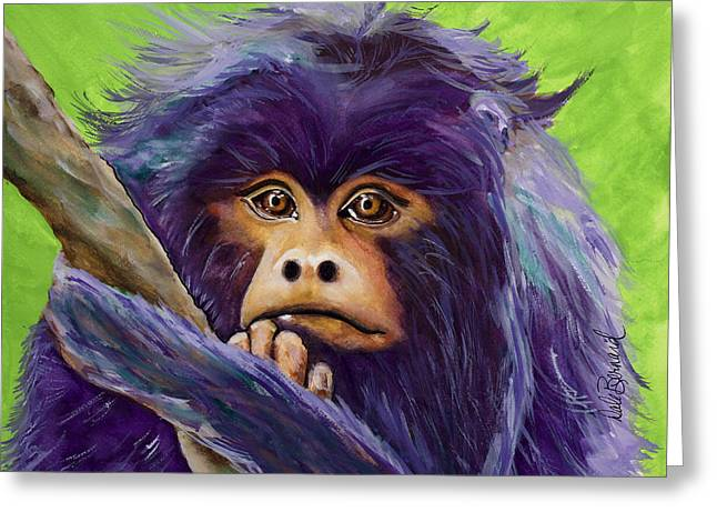 Pondering Paintings Greeting Cards - Pondering Greeting Card by Dale Bernard