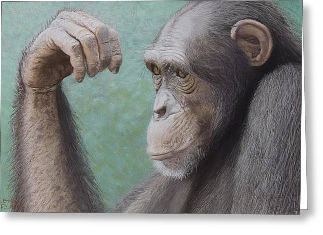 Pensive Pastels Greeting Cards - Pondering his fate Greeting Card by Leigh Rust
