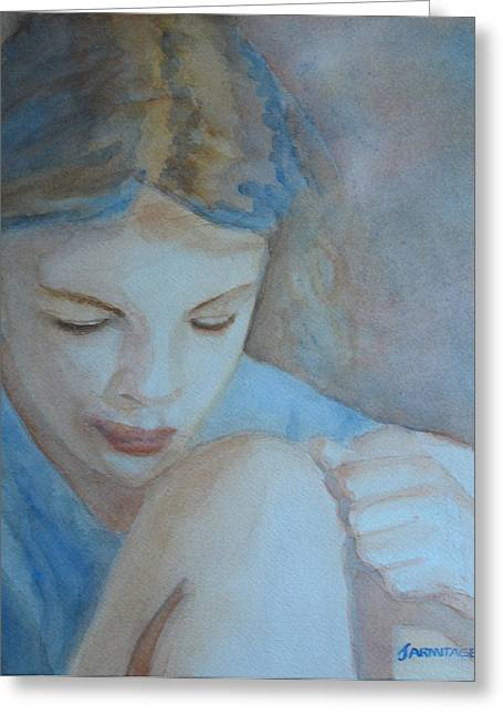 Childre Greeting Cards - Pondering Greeting Card by Jenny Armitage