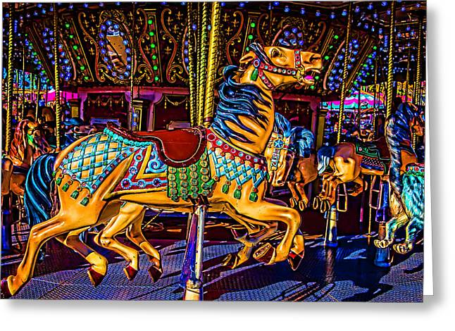 Poney Ride At The Fair Greeting Card by Garry Gay