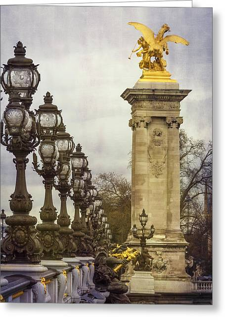 Pont Alexandre IIi Paris Greeting Card by Joan Carroll