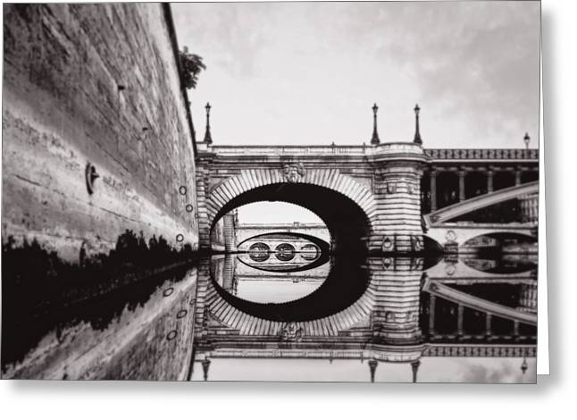 Liberation Greeting Cards - Pont d Arcole Paris  Greeting Card by Vicky Ceelen