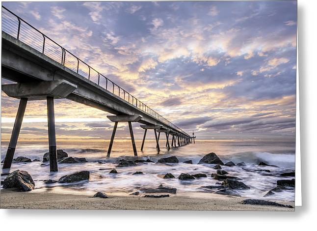 Catalunya Greeting Cards - Pont del Petroli in Badalona Catalonia Greeting Card by Marc Garrido