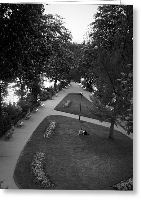 Most Photographs Greeting Cards - Pont Neuf Love - Lovers in Paris Photography Greeting Card by Laria Saunders