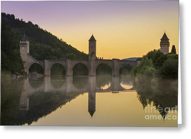 Pont Valentre - Cahors Greeting Card by Brian Jannsen