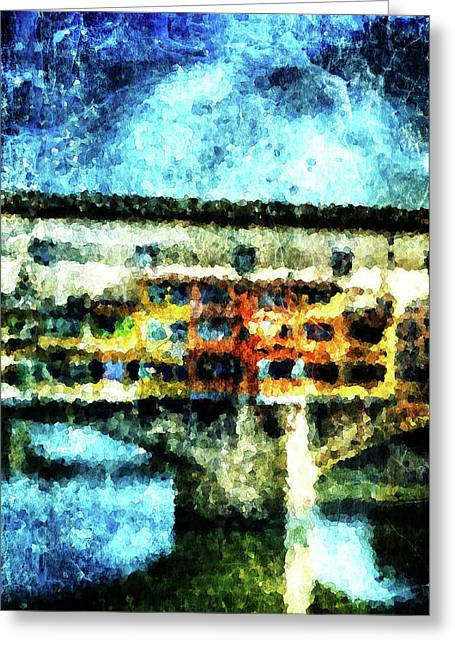 Wholly Greeting Cards - Ponte Vecchio Greeting Card by Andrea Barbieri